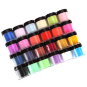 24 Colours 3D Manicure, Misaky Acrylic Nail Art Tips UV Gel Powder Dust Design Decoration