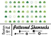 Patterned Shamrocks Waterslide Nail Decals - 50oc