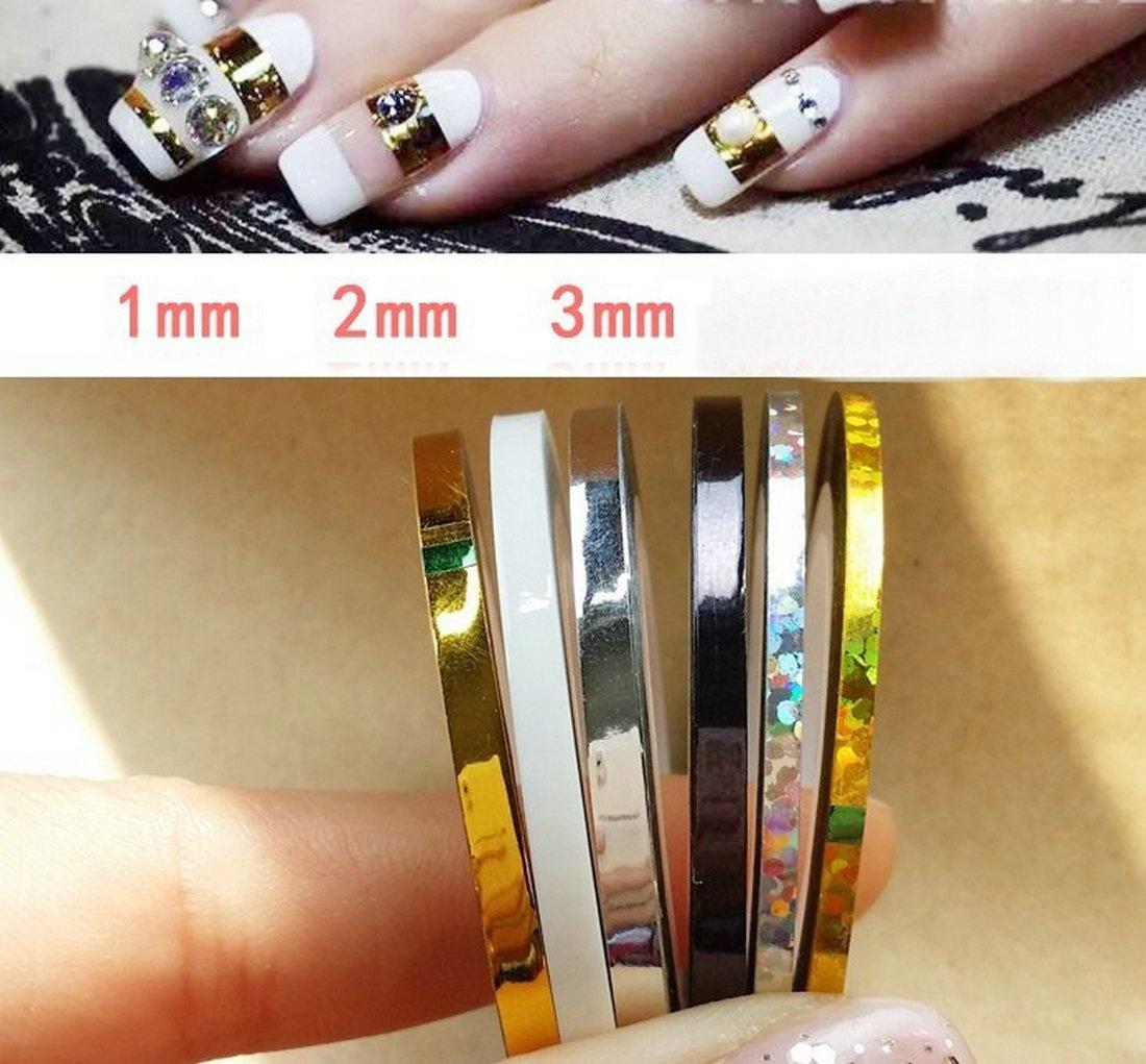 1//2//3 mm Matte Nail Striping Tape Manicure Decal 18 Pcs