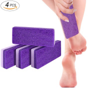 Foot Pumice Stone Sponge Block 4 Pack Premium Foot File and Scrubber 2 in 1 Callus Remover for Feet Hands and Body , Perfect Pedicure Beauty Tools for Exfoliation to Remove Dead Skin