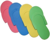 JOVANA 96 Pair Disposable Foam Pedicure Slippers Multi Colour Flip Flop Salon Nail Spa by Sold by Gold Cosmetics & Supplies