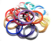 MVP Products 3D Pen Filament Refill PLA1.75mm Non-toxic 20 colours 10m (656 total feet) includes 2 Glow in the Dark and 2 Fluorescent colours MYNT3D, Scribbler V3, Soyan, 7TECH, LIX, Manve 3D Pens