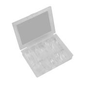 Lisin Clear False Nail Tips Nail Model Acrylic UV Gel Nail Art Salon Tools+Box