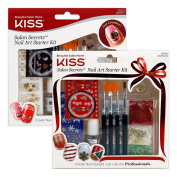(Choose from 7 Options) Kiss Salon Secrets Nail Art Starter Kit, Nail Decoration Tools