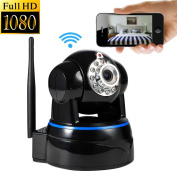 Wireless Camera, UOKOO1080p WiFi Security Camera Built-in Microphone, 2-Way Audio Remote Wireless for Baby Monitor, Motion Detection Wireless IP Webcam