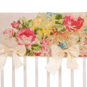 Charlotte Baby Girl Floral Crib Rail Protector by Glenna Jean