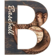 Baseball Letter B Wood Wall Decoration Boys Room Kids Decor