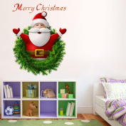 GBSELL Santa Claus Wall Stickers Christmas Home Bedroom Window Decals Decor