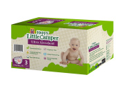 Happy Little Camper Ultra Absorbent Premium Natural Nappies, Size 3, 92 Count