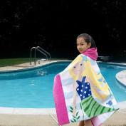 Princess Hooded Towel Yellow Hair Mermaid Bath Beach Pool Swimming Towel