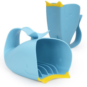 YJYdada Tear-Free Waterfall Rinser Blue Cartoon Whale Bathing Water Spoon Baby Child Bat