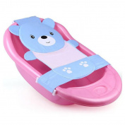 Zinnor Comfort Deluxe Newborn Baby Bath Seat, Baby Bath Bed Net Bathtub Sling Shower Mesh Bathing Cradle for Tub(Blue)