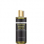 The Baby Oil Co. Plantain Banana Baby Oil, (Natural Skin Care for Delicate Skin) newborn + toddler