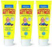 Boudreauxs Butt Paste Nappy Rash Ointment, XRCref, Original - Contains 16% Zinc Oxide - Paediatrician Recommended - Paraben and Preservative-Free - 3Pack