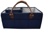 Premium Baby Nappy Caddy Tote Bag by Gentle Tot - Nursery Supplies & Changing Wipe Storage Organiser - Portable & Foldable Basket for Crib, Stroller, or Car - Baby Shower Gift for Boy or Girl