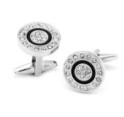 Da.Wa Round Cufflinks With Diamonds Casual Men's Cufflinks Gift Present