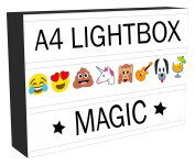MEGA VALUE Enhanced Light Box Cinema LED Sign | All in ONE Marquee Cinematic A4 Lightbox Set with 181 Letters & Number Emoji Lights + USB Cable | Stylish Light Up Box - Perfect Gift for All Occasions