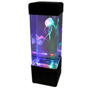 Gadgetzone® LED Jellyfish Water Lava Lamp Aquarium With Colour Changing LED Lights Relaxing Mood Lamp Children's Night Light. Battery Operated