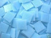 Full sheet of 225 Light Aqua Blue 20mm Vitreous Mosaic Tiles