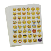 LVEDU 20 Sheets Random Mixed Cute Expression Small Stickers