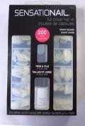 Sensationail Full Cover Nail Kit 200 Short Square False Nails