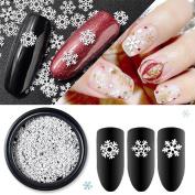 Ownsig DIY Snowflake Design Nail Art Decoration Charming White Snow Shape Nail Decal