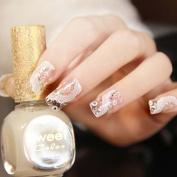 Miswilsi Art Beauty Rhinestone Bridal Women's Stickers Flower Nail White Lace