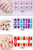 50 Sheets Da.Wa Female Fashion Simple Vinyl Nail Stickers Decals for Girl Women Self-adhesive Tip Nail Art Stencils