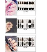 50 Sheets Da.Wa Fresh Simple Pattern Vinyl Nail Stickers for Girl Women Self-adhesive Tip Nail Art Stencils