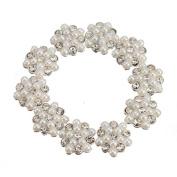 10pcs 3D Alloy Rhinestones Pearl Snowflake Nail Art Glitters DIY Decorati