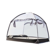 Mosquito Net Bed Canopy Pop Up Foldable Three Door Easy to Setup with Bottom Anti Mosquito Bites for Bed Camping Travel Home Outdoor , grey , 1.2m (4 feet) bed
