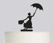 Mary Poppins - Acrylic Cake Topper - Black Acrylic
