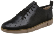 Clarks Tri Etch - Black Leather Womens Shoes 5.5 UK