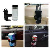 Fashion Universal Adjustable Car Auto Vehicle-mounted Door Back Seat Bottle Drink Cup Clip-on Mount Holder Bracket Stand
