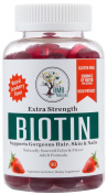 Biotin Gummies for Healthy Hair, Skin & Nails with Coconut Oil - Extra Strength. 90 Gummy (6 week supply) Vitamins RMB Naturals