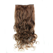 Clip in Hair Extensions,Curly Wave Full Head Clip in Synthetic Hair Extensions Heat Resistant Fibre Hair Piece for Women