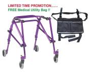 Drive Nimbo 2G Lightweight Posterior Walker, Medium, Wizard Purple & FREE Medical Utility Bag Black! - #KA3200-2GWP
