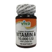 Viva Vitamins Vitamin A 10,000 I.U. Fish Liver Oil 100 Softgels