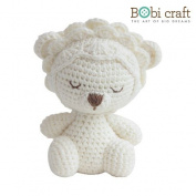 Mini Leo The Softie, hand crochet toy, soft plush toy, safe gift for new born babies and children, even infants, bedtime toy for kids, designed by Bobi Craft.
