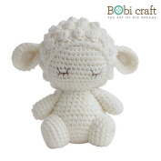 Mini Barbra The Softie, hand crochet toy, soft plush toy, safe gift for new born babies and children, even infants, bedtime toy for kids, designed by Bobi Craft.