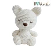 Mini Foxxie The Softie, hand crochet toy, soft plush toy, safe gift for new born babies and children, even infants, bedtime toy for kids, designed by Bobi Craft.