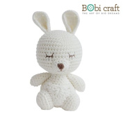 Mini Karo The Softie, hand crochet toy, soft plush toy, safe gift for new born babies and children, even infants, bedtime toy for kids, designed by Bobi Craft.