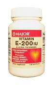 Major - Vitamin E Supplement - 200 IU Strength - Softgel - 100 per Bottle