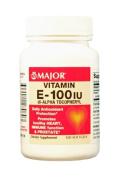 Major - Vitamin E Supplement - 100 IU Strength - Softgel - 100 per Bottle