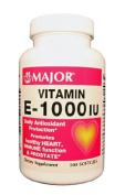 Major - Vitamin E Supplement - 1000 IU Strength - Capsule - 100 per Bottle