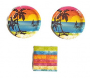 Luau Aloha Summer Sunset 18cm Plates (16) Napkins
