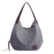 Women's Canvas Handbags Vintage High Quality Female Hobos Single Shoulder Bags Big Travel Bags