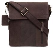 100% Pure Genuine Real Vintage Hunter Leather Handmade Mens Women Leather Flapover Everyday Crossover Shoulder Work iPad Messenger Bag