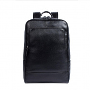 Genuine Leather Backpack Genuine Cow Leather Casual Daily Backpack Handbag , Black