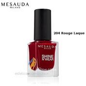 Nail Polish Shine N Wear Full 204 Rouge Laque mesauda Milano